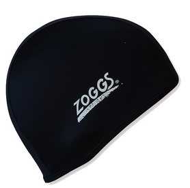 Шапочка для плавания Zoggs Stretch Cap, черная (300607BLK)
