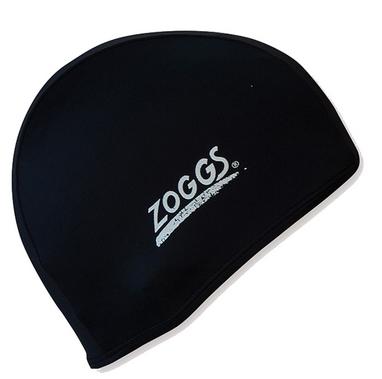 Шапочка для плавания Zoggs Stretch Cap, черная (300607BLK)
