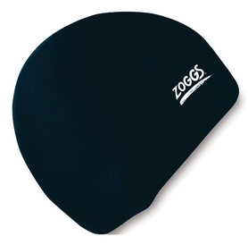 Шапочка для плавания Zoggs Junior Silicone Cap, черная (300709BLK)