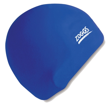 Шапочка для плавания Zoggs Junior Silicone Cap, синяя (300709ROL)