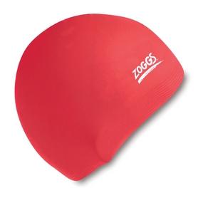 Шапочка для плавания Zoggs Junior Silicone Cap, коралловый (300709CRL)