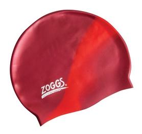 Шапочка для плавания Zoggs Silicone Cap Plain, Burgundy-Red (300634BGR)