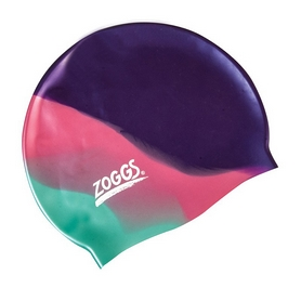 Шапочка для плавания Zoggs Silicone Cap Plain, Purple-Pink-Teal (300634PPT)