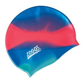 Шапочка для плавания Zoggs Silicone Cap Plain, Blue-Pink (300634BLP)