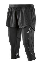 Скинзы женские компрессионные 3/4 с шортиками Skins Superpose Black/Limoncello (DA99060269240)