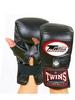 Распродажа*! Перчатки снарядные кожаные без пальца Twins TBGL-1F-BK черные - XL
