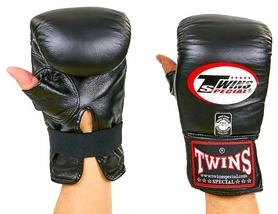 Перчатки снарядные кожаные Twins TBGL-1H-BU черные