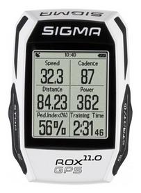 Велокомпьютер Sigma Sport Rox 11.0 GPS Set, белый (SD01009)