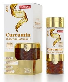 Комплекс витаминов и минеролов Nutrend Curcumin + Bioperine + Vitamin D, 60 капсул (NUT-2044)