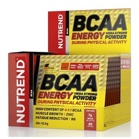 Аминокислоты Nutrend BCAA Energy Mega Strong Powder - апельсин, 20х12,5 г (NUT NUT-2027)