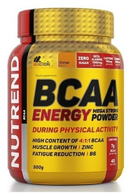 Аминокислоты Nutrend BCAA Energy Mega Strong Powder - апельсин, 500 г (NUT-2022)
