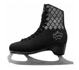 Коньки фигурные Спортивная коллекция Fashion, черные (FASHION-B)