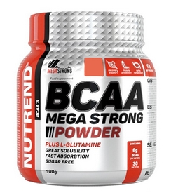 Аминокомплекс Nutrend Compress BCAA Mega Strong Powder - грейпфрут, 500 г (NUT-1705)