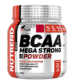 Аминокомплекс Nutrend Compress BCAA Mega Strong Powder - вишня, 500 г (NUT-1917)