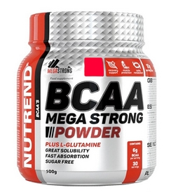 Аминокомплекс Nutrend Compress BCAA Mega Strong Powder - арбуз, 500 г (NUT-1918)