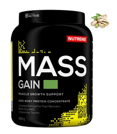 Гейнер Nutrend Mass Gain - фисташка, 1000g (NUT-1651)