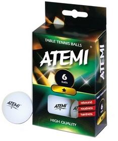 Мячики для настольного тенниса Atemi - 1* 6 шт (000-2168)