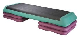 Степ-платформа регулируемая LiveUp Aerobic Step, голубая (LS3168E-p)