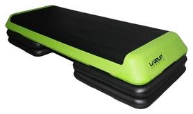 Степ-платформа регулируемая LiveUp Aerobic Step, зеленая (LS3168E-g)