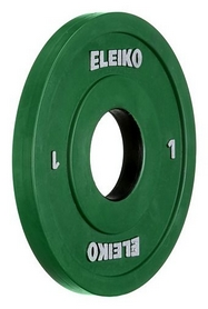 Диск олимпийский тренировочный Eleiko, 1 кг (124-0010R)