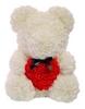 Мишка из роз c сердцем UFT Bear Flowers UFT B2 - белый, 40 см (B2White)