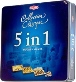 Игра настольная 5 в 1 (шахматы, шашки, нарды, домино, крестики-нолики)