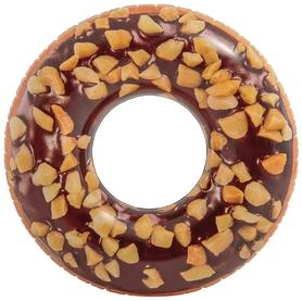 Круг надувной детский Intex Пончик шоколад, 114 см (56262)