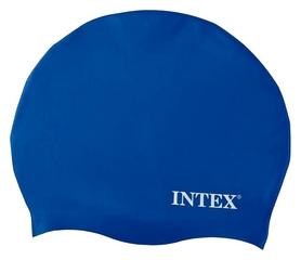 Шапочка для плавания детская Intex Silicone Swim Cap, синяя (55991-2)