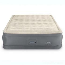 Кровать двуспальная надувная Intex Ultra Plush Headboard Airbed, 152x236x86 см (64448)