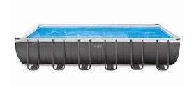 Бассейн каркасный Intex с фильтрующим насосом 28676, хлоргенератором, волейбольной сеткой и аксессуарами 732х366х132 см (26368)