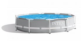 Бассейн каркасный Intex Prism Frame Pool с фильтрующим насосом и лестницей, 305х99 см (26706)