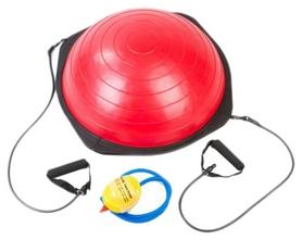 Полусфера балансировочная (Bosu) Fitnessport, красный (FT-BS-010)
