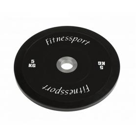 Диск для кроссфита соревновательный Fitnessport RCP 22-5 - черный, 5 кг