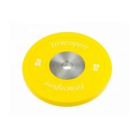 Диск для кроссфита соревновательный Fitnessport RCP 22-15 - желтый, 15 кг