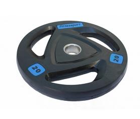 Диск олимпийский обрезиненный Fitnessport RCP 17-20 - черный, 20 кг