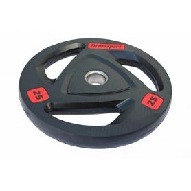 Диск олимпийский обрезиненный Fitnessport  RCP 17-25 - черный, 25 кг