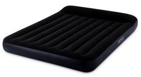 Матрас надувной двуспальный Intex Pillow Rest Classic Airbed, 152x203x25 см (64150) + Встроенный электронасос 220В