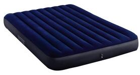 Матрас надувной двуспальный Intex Classic Downy Airbed 152x203x25 см (64765) + Ручной насос и 2 подушки