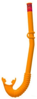 Трубка для плавания детская Intex Hi-Flow Snorkels, оранжевая (55922-2)