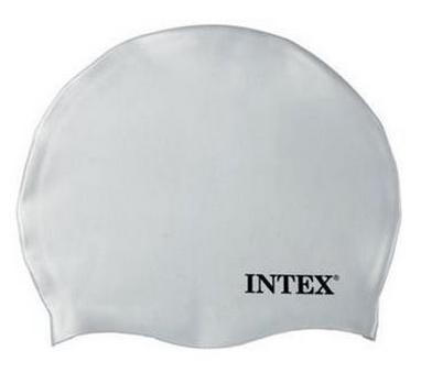 Шапочка для плавания детская Intex Silicone Swim Cap, белая (55991-3)