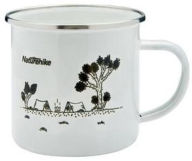Кружка походная Naturehike Mountains fun NH17M001-B белая, 0,35 л