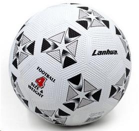 Распродажа*! Мяч футбольный Lanhua бело-черный №4