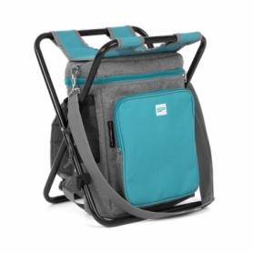 Термосумка-рюкзак-складной стул Spokey Mate 3 в 1 40 л Серо-голубой (s0396)