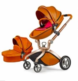 Универсальная коляска 2 в 1 Hot Mom Коричневая (HM5599767)