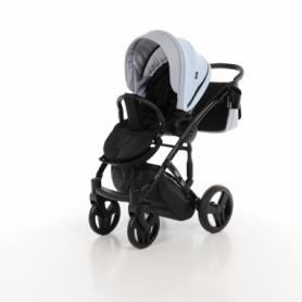 Детская коляска 2 в 1 Tako Junama Geographic 03 Серо-голубая (13-JG03) - Фото №4