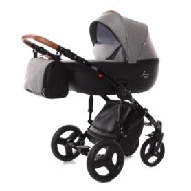 Детская коляска 2 в 1 Tako Junama Modena 03 Серая с черным (13-JM03)