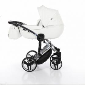 Детская коляска 2 в 1 Tako Junama Enzo Go 01 Белая на серебряной раме (13-JEG01)