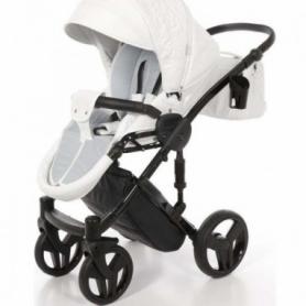 Детская коляска 2 в 1 Tako Junama Enzo Go 01 Белая на серебряной раме (13-JEG01) - Фото №2