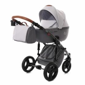 Детская коляска 2 в 1 Tako Junama Modena 01 Светло-серая с темно-серым (13-JM01)