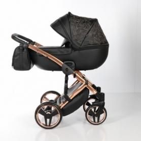 Детская коляска 2 в 1 Tako Junama Enzo Go 03 Черная на бронзовой раме (13-JEG03)